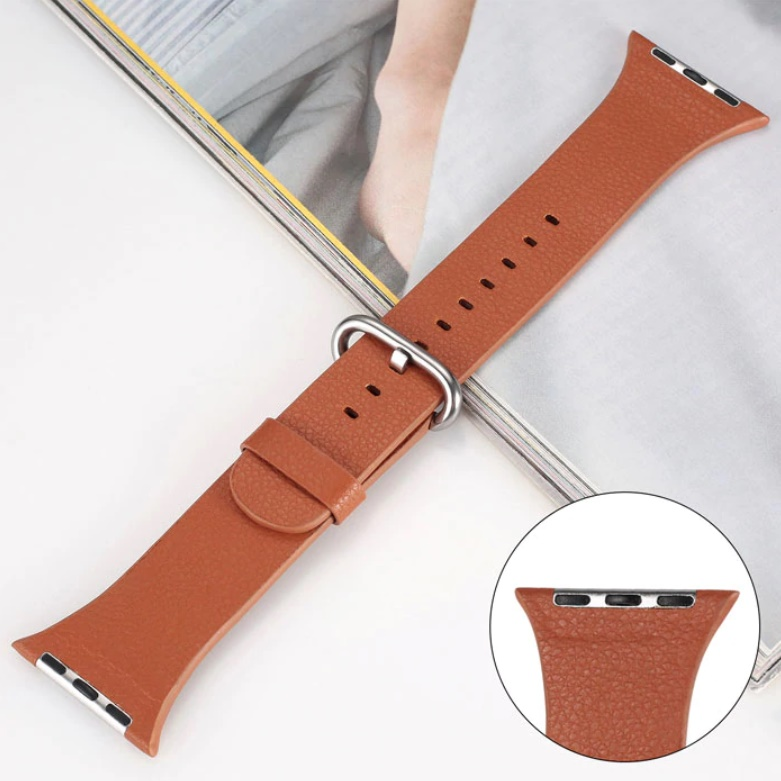 Genuine Leather Band Strap For Apple Watch Series 42mm Brown