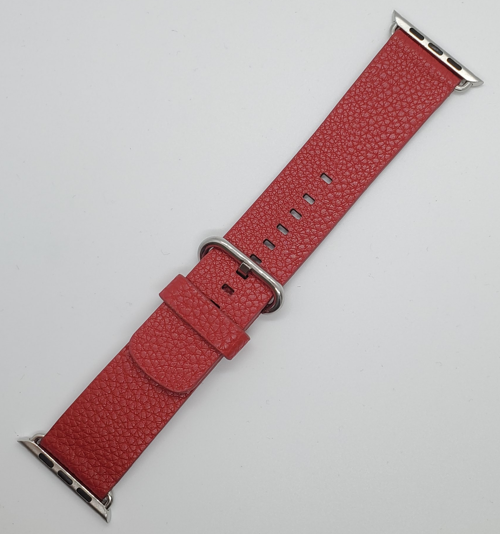 Genuine Leather Band Strap For Apple Watch Series 42mm Red