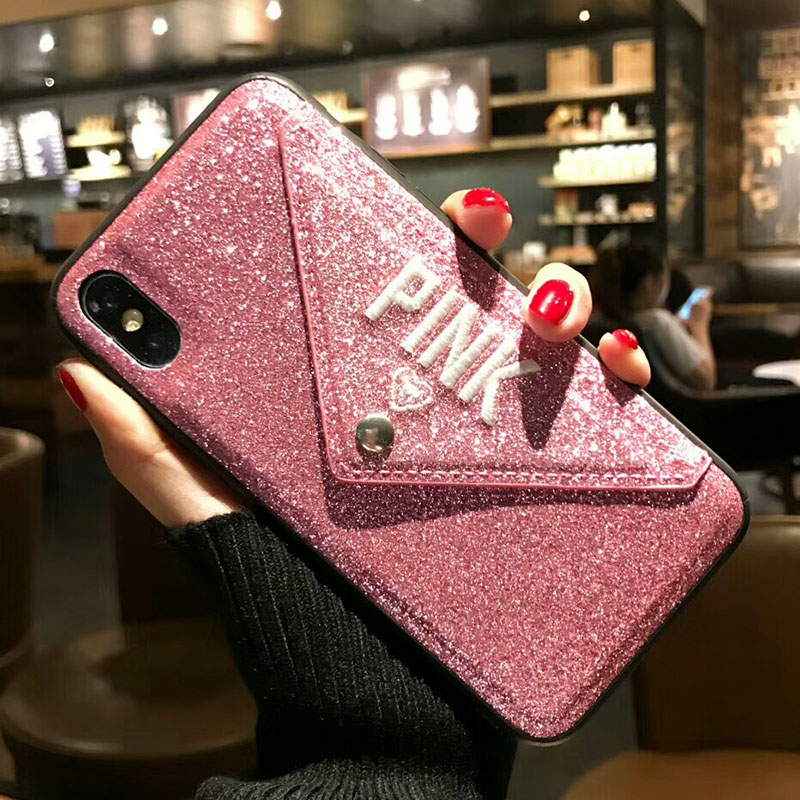 Luxury Brand NEW Glitter Embroidery Leather Fashion Pink