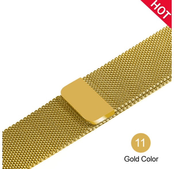 Stainless Steel Link Bracelet Wrist Watch Band Magnetic Buckle Band Strap For Apple Watch 42mm Gold