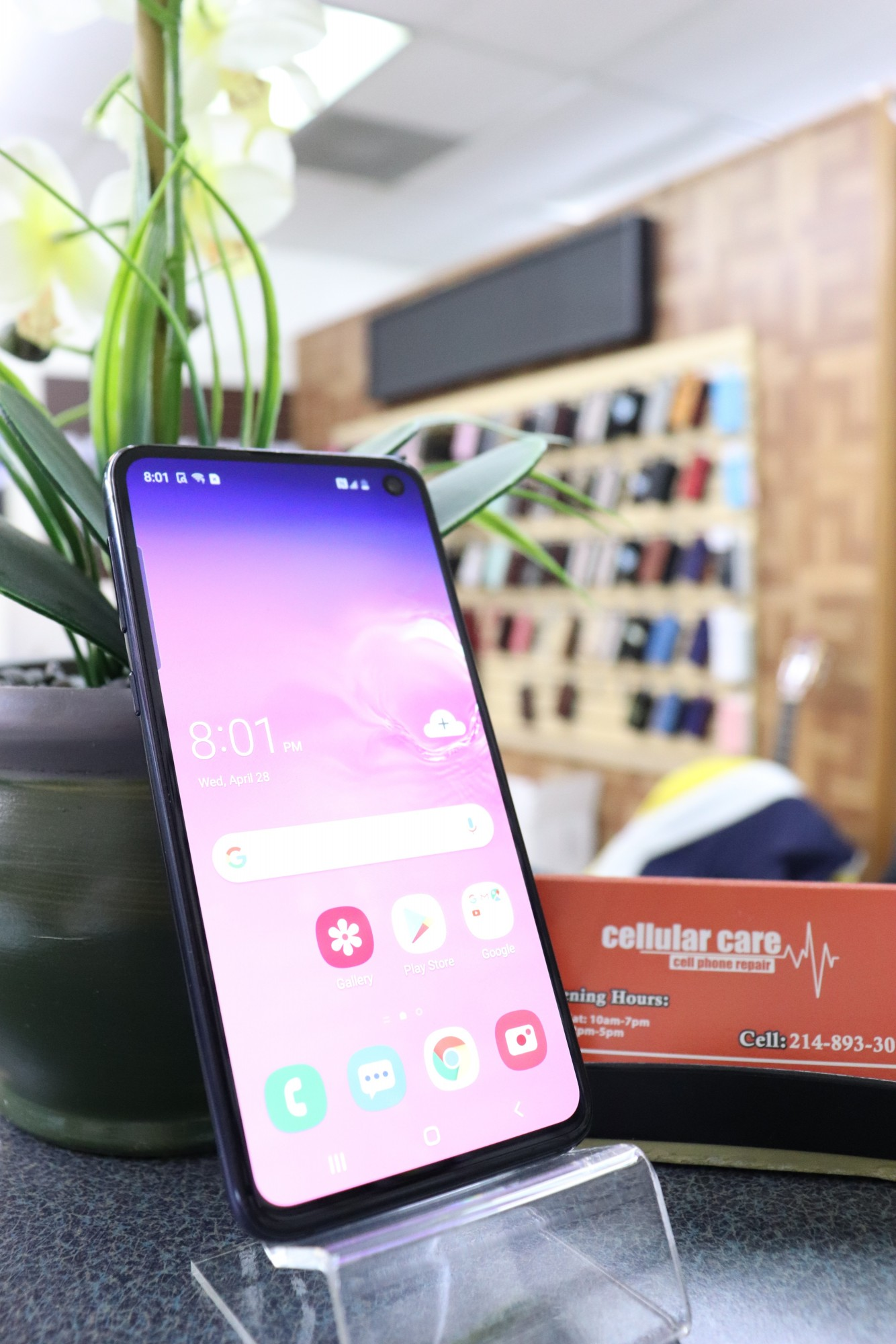 1285 – Samsung S10E 128GB Black Unlocked $280 – Store Pick Up Address: Cellular Care 300 N Coit Rd #157 Richardson TX, 75080 Mon-Sat: 11Am to 7Pm Sun: 12 to 5Pm *About this item: -Condition: -30 Days Warranty By Cellular Care.