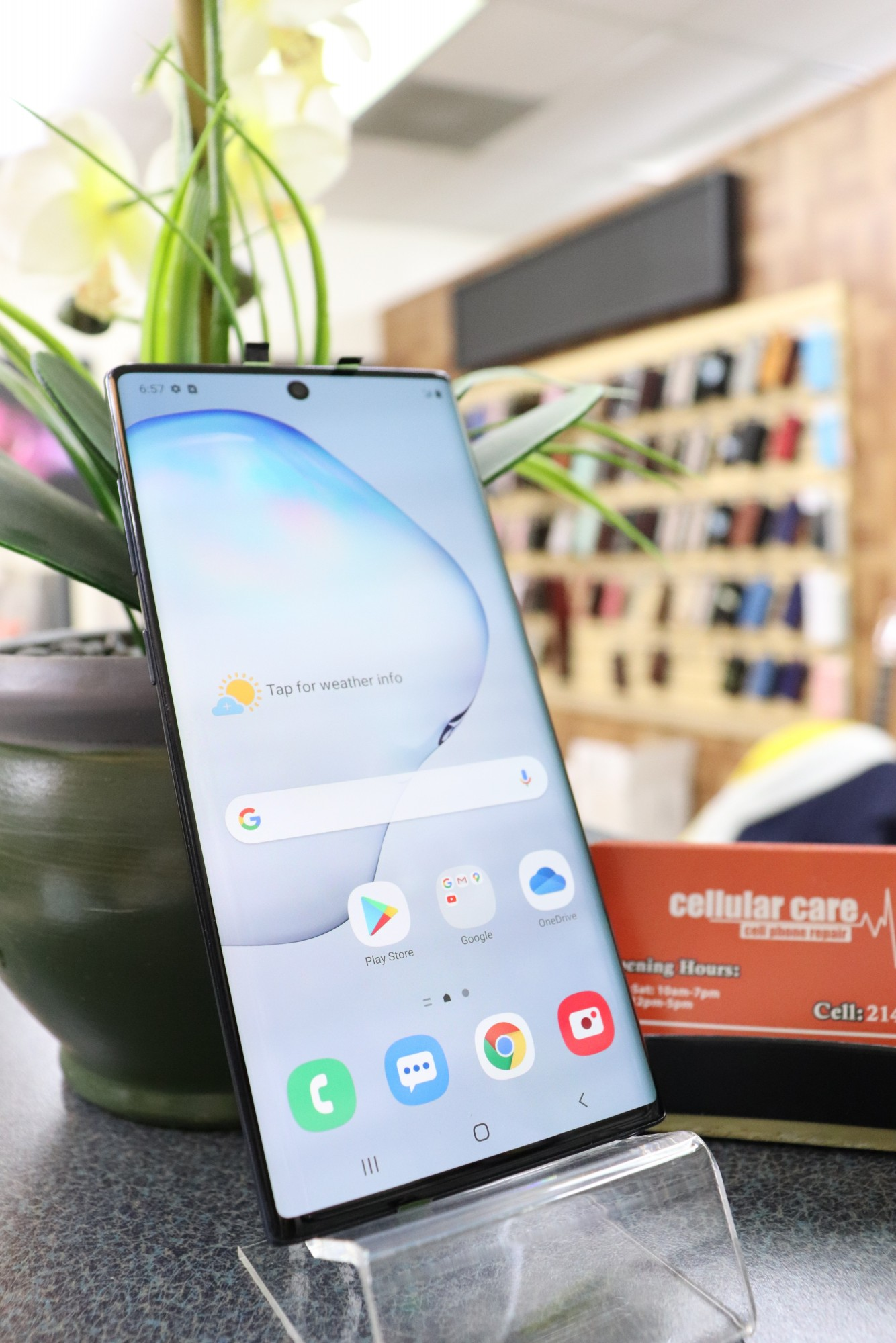1611 – Samsung NOTE 10 256GB Black Unlocked $440 – Store Pick Up Address: Cellular Care 300 N Coit Rd #157 Richardson TX, 75080 Mon-Sat: 11Am to 7Pm Sun: 12 to 5Pm *About this item: -Condition: 8/10 -30 Days Warranty By Cellular Care.