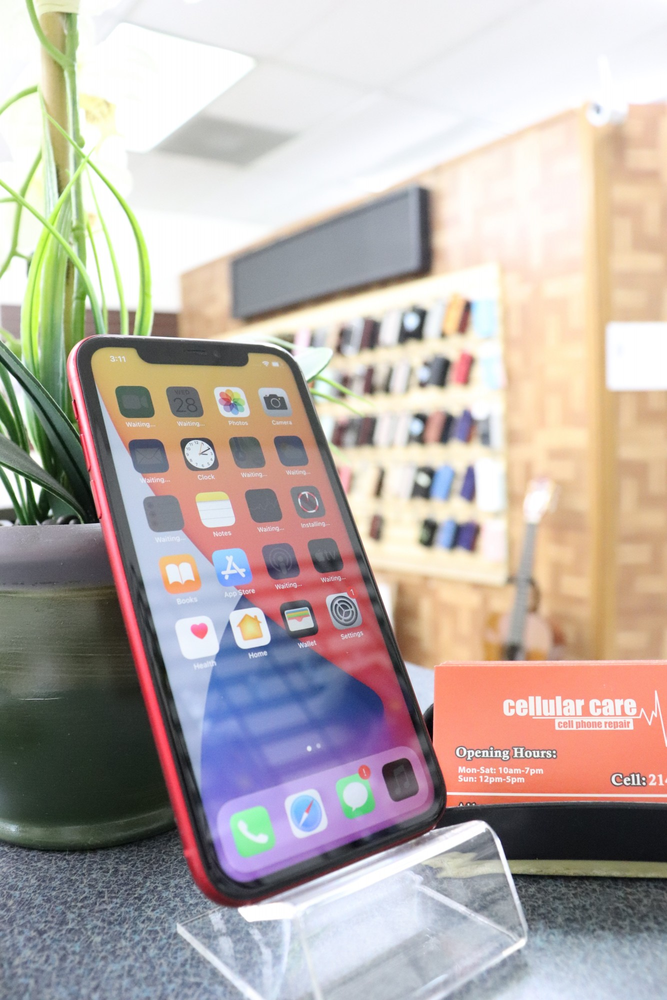 1638 – iPhone 11 64GB Red Unlocked $470 – Store Pick Up Address: Cellular Care 300 N Coit Rd #157 Richardson TX, 75080 Mon-Sat: 11Am to 7Pm Sun: 12 to 5Pm *About this item: -Condition: 9/10 -30 Days Warranty By Cellular Care.